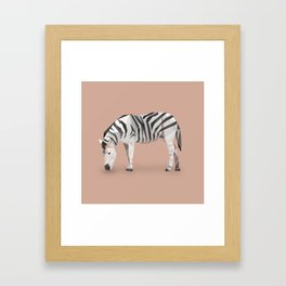 Zebra. Framed Art Print