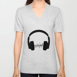 Headphones Unisex V-Neck