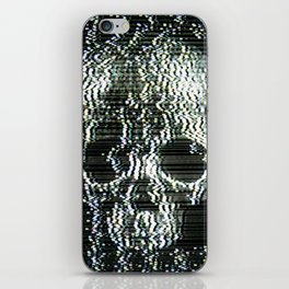 Analogue Glitch Jawless Skull iPhone Skin