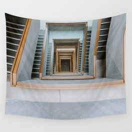 GREY CONCRETE STAIRCASE DURING DAYTIME Wall Tapestry
