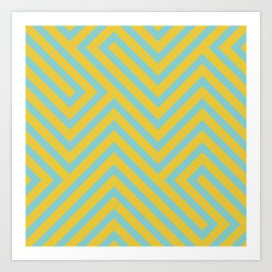 Pastel Labyrinth Art Print
