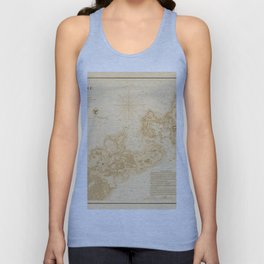 Map of Woods Hole 1857 Unisex Tank Top