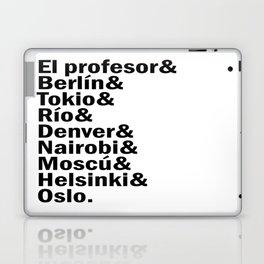 La casa de papel / Money Heist squad. (version 3, in black) Laptop & iPad Skin