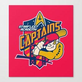 Starfleet Academy Captains Baseball Canvas Print