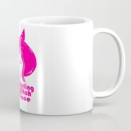 Resting Witch Face, Pink Coffee Mug