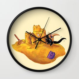 The Witch's Sandcastle Wall Clock