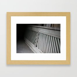 woodwork Framed Art Print