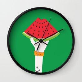 Hands Up - watermelon Wall Clock