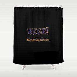 Funny One-Liner Breakfast Beer Joke Shower Curtain