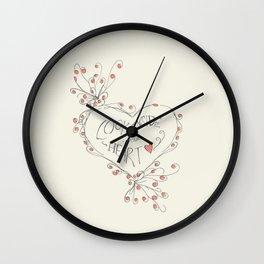 look inside your heart Wall Clock