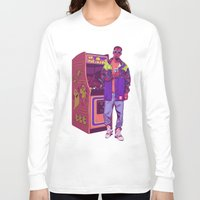 monster Long Sleeve T-shirts featuring Monster Arcade by Mike Wrobel