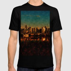 Painted City Mens Fitted Tee Black LARGE