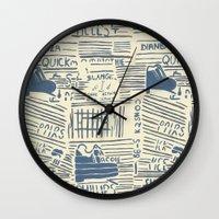 shoe Wall Clocks featuring Shoe by Becca Hardingham