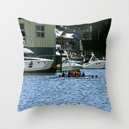 Rowers Lake Union Throw Pillow