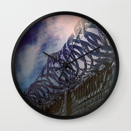 318 Protected Prison Camp Wall Clock