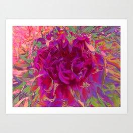 """Extreme Dahlia """"Janny P"""" Art Print"""
