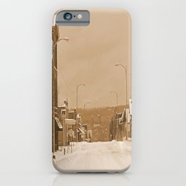 Old Main Street in the Snow iPhone Case