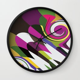 Retro colours Wall Clock