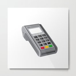 Point of Sale POS Terminal Retro Metal Print