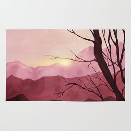 Sunset & landscape Rug