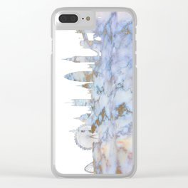 London Skyline Great Britain Clear iPhone Case