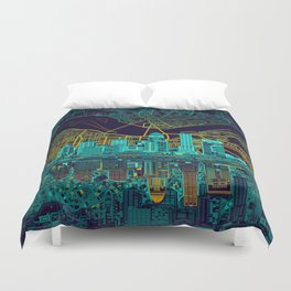 louisville skyline abstract Duvet Cover