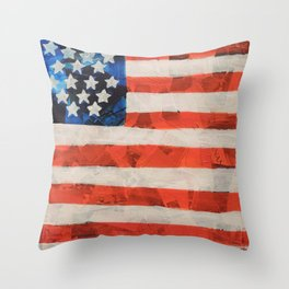 American Flag 6 Throw Pillow