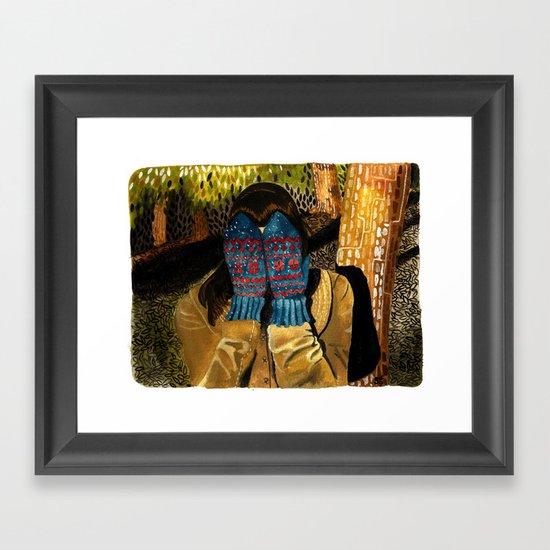 Ready or not (Mittens) Framed Art Print