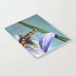 Wasp on flower 11 Notebook