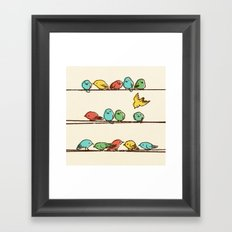Hanging Out (multi-colored option) Framed Art Print