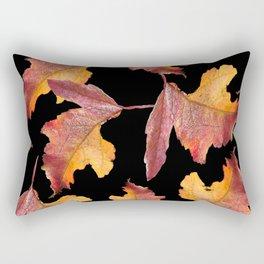 Frozen Leaves On A Black Background #decor #buyart #society6 Rectangular Pillow