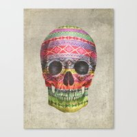 skull Canvas Prints featuring Navajo Skull  by Terry Fan
