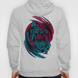 PINK AND BLUE MURAL Hoody