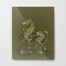 Unicorn of War Metal Print