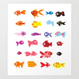Fish collection Art Print