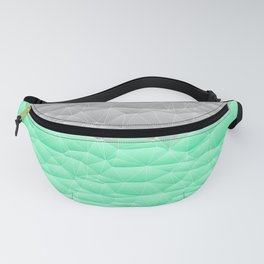 Vibrant Mint Green and Silver Quilted Design Fanny Pack
