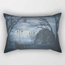 Two Lone Wolves Rectangular Pillow