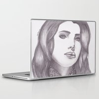 celebrity Laptop & iPad Skins featuring Celebrity Portrait by N. Rogers Fine Art
