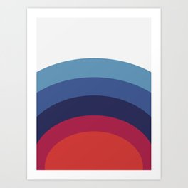 Retro Sunset Wave Vibes Art Print