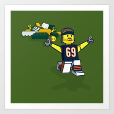 Bears Bricked: Jared Allen Art Print