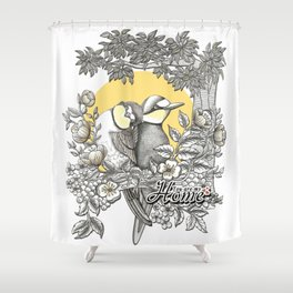 Love Birds - You are my home Shower Curtain