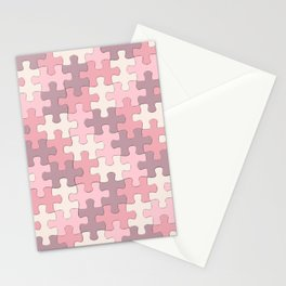 Jigsaw Puzzle Pieces Neopolitan Bliss Pattern Stationery Cards