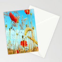 Lying in the cornfield, let your soul Stationery Cards