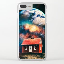 Starring at the world Clear iPhone Case