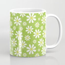 DAISIES ON APPLE GREEN Coffee Mug