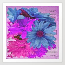 FLOWERS AND MUSIC Art Print