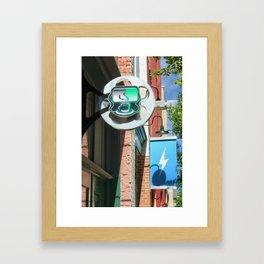 the jolt and bolt Framed Art Print
