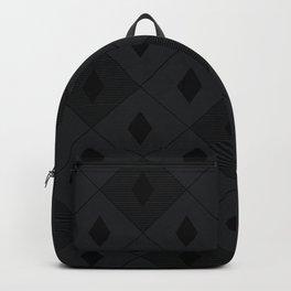 Harlequins Pattern - Midnight Black Backpack