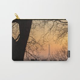 Sunset in Paris - Eiffel Tower seen from Montmartre Carry-All Pouch