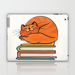With Books And Cats Life Is Sweet Laptop & iPad Skin